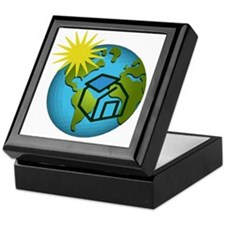 Solar Power Earth Keepsake Box