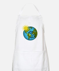 Solar Power Earth BBQ Apron