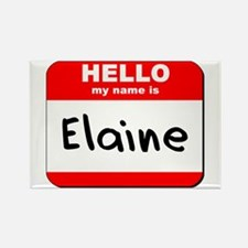 Hello my name is Elaine Rectangle Magnet