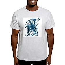 Blue Brass & Sax Ash Grey T-Shirt