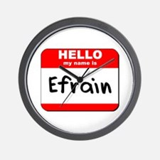 Hello my name is Efrain Wall Clock