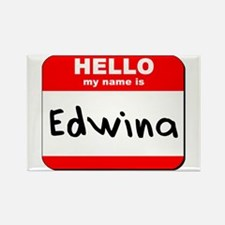 Hello my name is Edwina Rectangle Magnet
