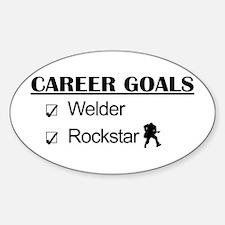 Welder Career Goals - Rockstar Oval Decal