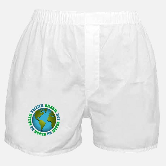 Think Green Go Green Boxer Shorts