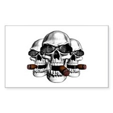 Cool Skulls Rectangle Decal
