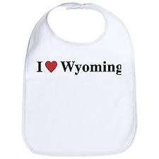 I Love Wyoming Bib