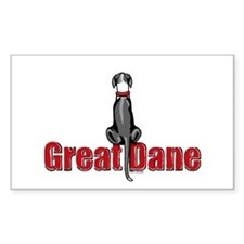 Mantle Great Dane UC Sit Rectangle Decal