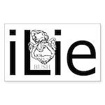 iLie Rectangle Sticker