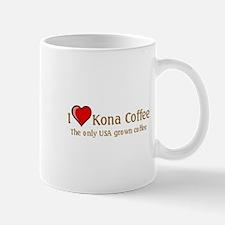 I Love Kona Coffee Mug