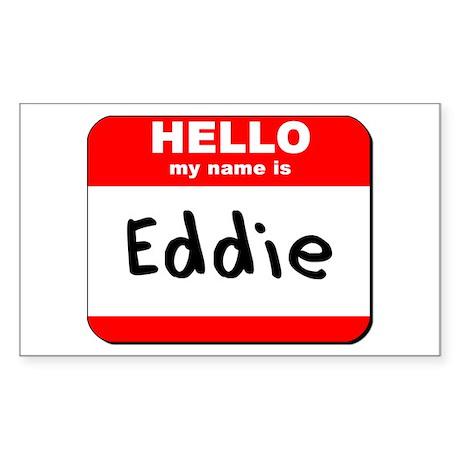 Hello my name is Eddie Rectangle Sticker