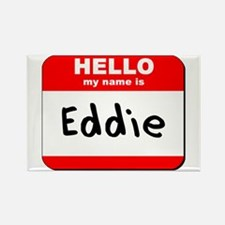 Hello my name is Eddie Rectangle Magnet