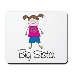 big sister shirt stick figure Mousepad