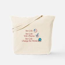 See Cole Vote Obama Tote Bag