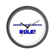Theater Lighting Directors Rule! Wall Clock
