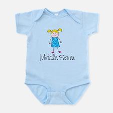 middle sister t-shirt stick figure Infant Bodysuit