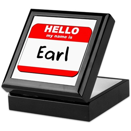 Hello my name is Earl Keepsake Box
