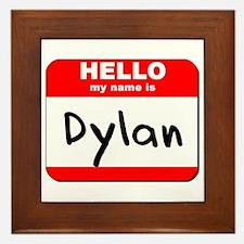 Hello my name is Dylan Framed Tile