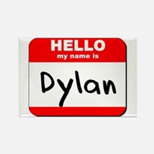 Hello my name is Dylan Rectangle Magnet