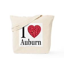 I Love Auburn Tote Bag