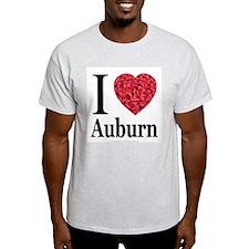 I Love Auburn Ash Grey T-Shirt