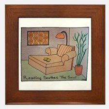 Reading Soothes the Soul Framed Tile