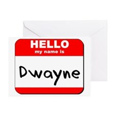 Hello my name is Dwayne Greeting Cards (Pk of 20)