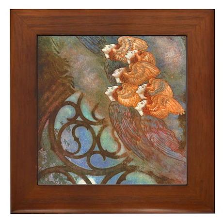 Poe's The Bells, Angels Framed Tile
