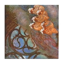 Poe's The Bells, Angels Tile Coaster