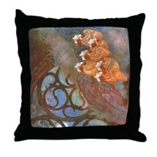 Poe's The Bells, Angels Throw Pillow