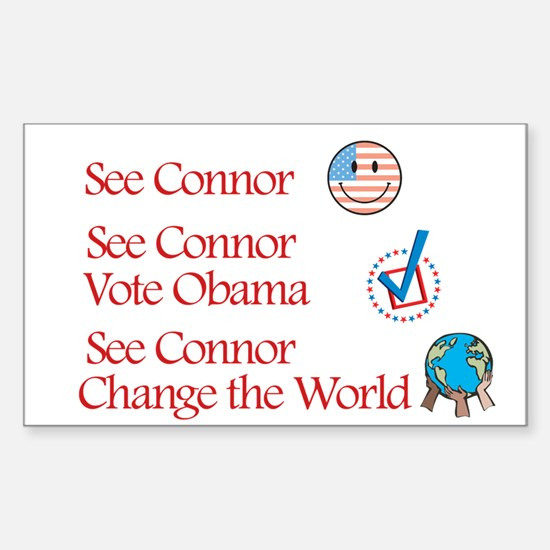 See Connor Vote Obama Rectangle Decal