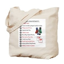 poker commandments Tote Bag