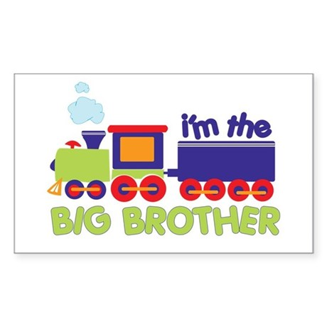 train big brother t-shirts Rectangle Sticker