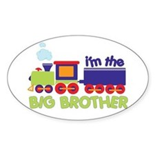 train big brother t-shirts Oval Decal