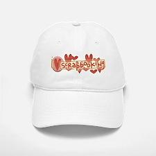 I Love Scrapbooking Baseball Baseball Cap