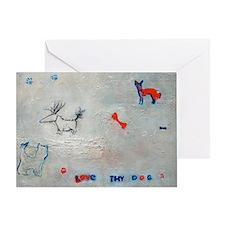 Love thy Dog Greeting Card