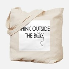 Think outside the box. Tote Bag