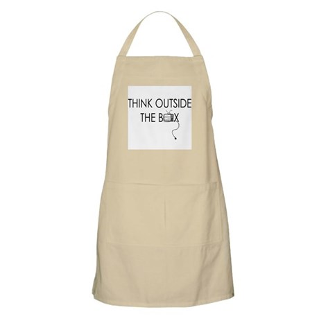 Think outside the box. BBQ Apron