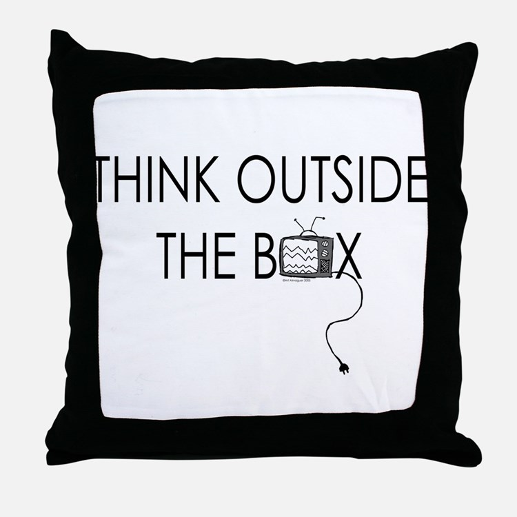 Think outside the box. Throw Pillow
