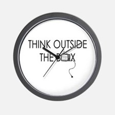 Think outside the box. Wall Clock