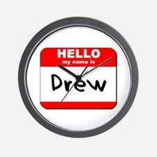Hello my name is Drew Wall Clock