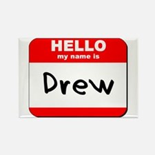 Hello my name is Drew Rectangle Magnet