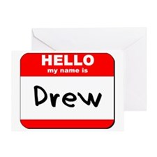 Hello my name is Drew Greeting Card