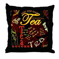 Tea Dark Throw Pillow