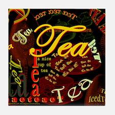 Tea Dark Tile Coaster