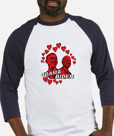 Obama Biden - Feel the love Baseball Jersey