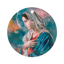 Blessed Mother Mary Ornament (Round)