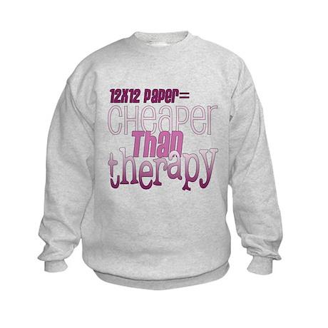 Cheaper than Therapy Kids Sweatshirt