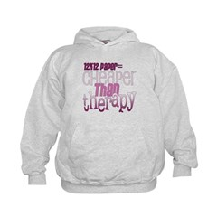Cheaper than Therapy Kids Hoodie