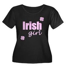 Irish Girl Plus Size Scoop Neck Dark T-Shirt