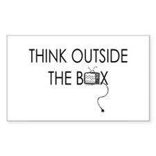 Think outside the box. Rectangle Decal